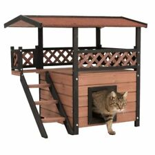 Dog House Outdoor Maisonette Weather Proof Wooden With Bitumen Roof Terrace