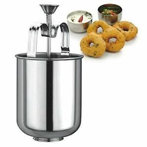 Doughnut Donut Maker Steel Mendu Vada Meduwada Maker Manual Dispenser Kitchen