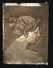 VTG Arts & Crafts? Hand Hammered? Repousse Copper Wall Art portrait of a lady