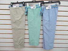 Boys IZOD $32 Khaki, Green & White Dress/Casual Pants Sizes 4, 5 & 6