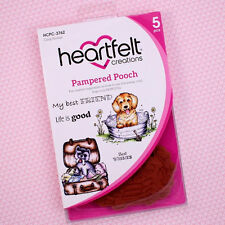 Heartfelt Creations Cling Rubber Stamp Set Pampered Pooch, HCPC3762~ NIP