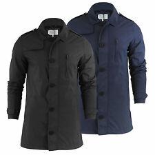 Brave Soul Zip Nylon Collared Coats & Jackets for Men