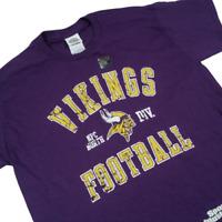 Minnesota Vikings Kids Large TShirt Purple NFL Football Short Sleeve 02T