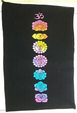 Tapestry 7 Chakra On Black Yoga Mat Wall Hanging Poster Decor Hippie Indian Drom