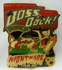 John Force Nightmare Tour The Boss Is Back NHRA Castrol GTX Drag Racing Hat Pin