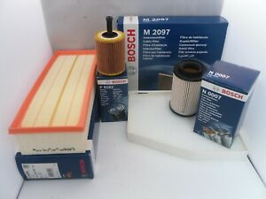 Audi A3 1.9 TDI Service Kit Oil Air Fuel Cabin Filter 2003 to 2013 BOSCH OPT1