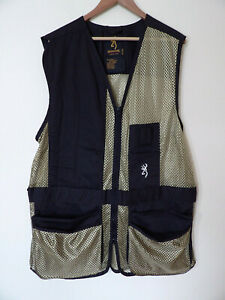 new Browning trap Shooting Black Hunting Shooting Vest Men's 2XL XXL