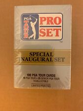 1990 PRO SET GOLF PGA TOUR INAUGURAL FACTORY SEALED SET OF 100 CARDS IN BOX