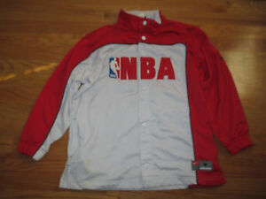 Nike NBA National Basketball Association Snap Button (Youth MED) Warm-Up Jacket