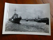 Lot36 - WW2 Original Photo Battleships UNKNOWN SHIP NAVY in HARBOUR