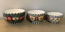 Mary Engelbreit Michel & Co Christmas 2001 Merriment Set of 3 small bowls
