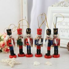 Wooden Nutcracker Doll Set Soldier Puppet Christmas Kids Gifts New 2020 10cm