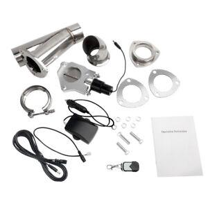 LENCOOL 3'' Electric Exhaust Muffler Valve Cutout System Dump Wireless Remote