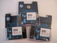 3 x  BOXED SEALED  HP 300 TRI-COLOUR PRINTER INK PACKS