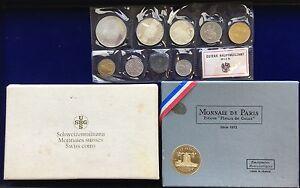 AUSTRIA 1971 PROOF SET, FRANCE 1973 FLEUR DE COIN SET, SWITZERLAND COIN SET