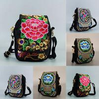 Women Lady Ethnic Bag Wallet Shoulder Bag Embroidered Crossbody Clutch Purse Hot