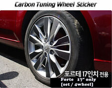 "Carbon Tuning Wheel Mask Sticker For Kia  Forte / Cerato 17"" [2009~2013]"