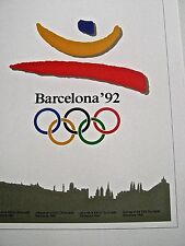 Olympics 1992 Barcelona Spain-Official Olympic Poster Reprint 16x12 Unsigned