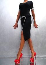 NEW Schwarz Stretch Elegant Fit VIP Damen Top Kleid Classic M92 Dress Black S/M