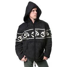 Chaqueta de punto Hombre OM algodón CON FORRO FLEECE y capucha Extraíble