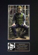 #18 HEATH LEDGER Reproduction Signature/Autograph Mounted Signed Photograph A4