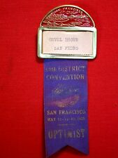1939 MAY 11-12-13 ~ OPTIMIST ~ 14TH DISTRICT CONVENTION, SAN FRANCISCO / ORVEL