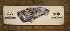 chevrolet corvette c4 coupe  pvc large WORK SHOP BANNER garage car show banner