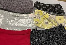 THIRTY-ONE Elite Fitted Gray Floral Purse Skirt -- SKIRT ONLY Lot Of 6