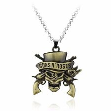 Guns N 'Roses Death Logo Necklace Skeleton Silver Plated Pendant Necklace