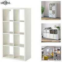IKEA KALLAX White, 8 Shelving Unit Display, Storage, Bookcase, Expedit