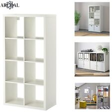 IKEA KALLAX White, 8 Shelving Unit Display, Storage, Bookcase, Expedit