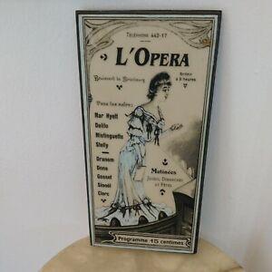 Michael Alan Designs L'Opera Wall Hanging Art Plaque French Program Theme 10 x 5