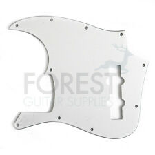 JAZZ BASS Pickguard, White 3 Ply (W/B/W)  Golpeador
