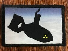 Dr Strangelove Riding the Nuke Morale Patch Military Tactical Army Hook Flag