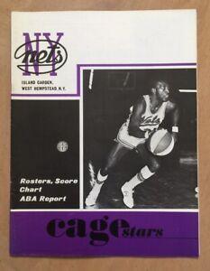 1969-70 ABA KENTUCKY COLONELS @ NEW YORK NETS BASKETBALL PROGRAM - VINTAGE RARE