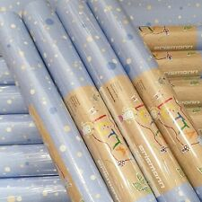 10 ROLLS Erismann Blue White Beige Spots Dots Textured Boys Bedroom Wallpaper