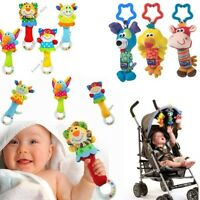 Cute Infant Baby Boy Girl Soft Handbells Rattles Stroller Bell Toy Developmental