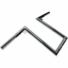 "LA Choppers 1"" 12"" Web Z Bars Handlebars Harley Motorcycle Bobber Chrome"