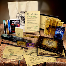 Personalised MEGA PACK - Hogwarts Acceptance letter, wand, quill, spells, ticket