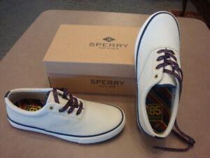 Men's New Sperry Top-Sider Stripe II CVO 85th Anniv Leather SNEAKER SHOE Size 9