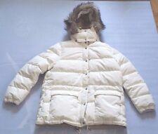 DENIM & SUPPLY RALPH LAUREN WOMEN'S CREAM DOWN COAT DETACHABLE FUR HOODIE SZ XL