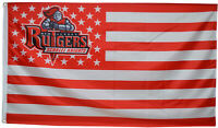 Rutgers University Scarlet Knights Stars&Stripes Flag