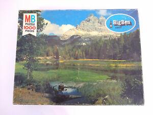 NEW Big Ben 1000 Pieces Jigsaw Puzzle - Dolomites, Lago Antonio - Vintage 1978