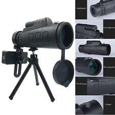 12x50 HD Dual Focus Optical Camping Hiking Hunting Monocular Telescope W/ Tripod