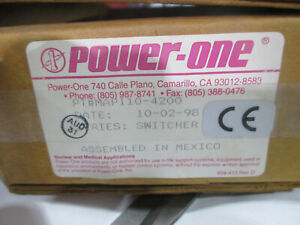Power One switching power supply MAP110-4200 series switcher