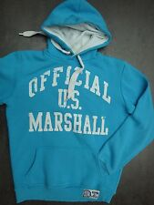 Sweat à capuche US MARSHALL bleu – Taille S