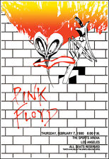 PINK FLOYD 1980 Los Angeles Concert Poster