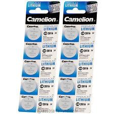 """""""10x Camelion CR2016 PREMIUM Lithium Batterie CR 2016"""