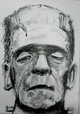 Original ACEO sketch card Frankenstein - Boris Karloff