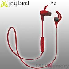 GENUINE Jaybird X3 Sport Bluetooth Wireless Buds Headset Earphone Roadrash Red